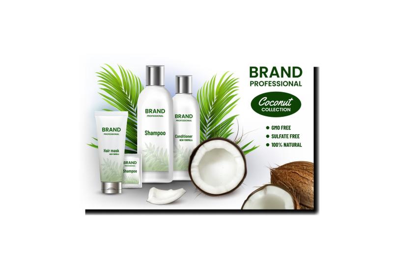 coconut-cosmetics-set-promotion-banner-vector