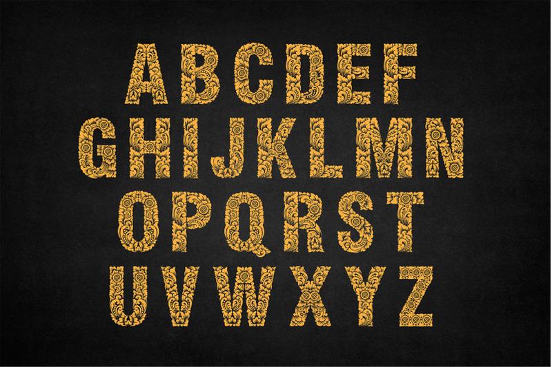 monogram-dewata-ornament-typeface