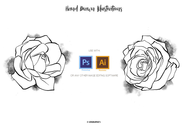 18-hand-drawn-roses-floral-illustrations-in-black-and-white