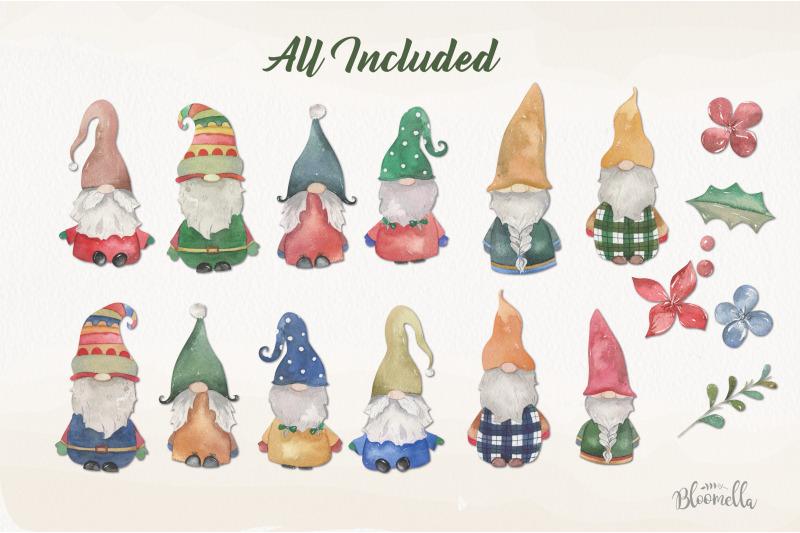 scandinavian-gnomes-watercolor-clipart