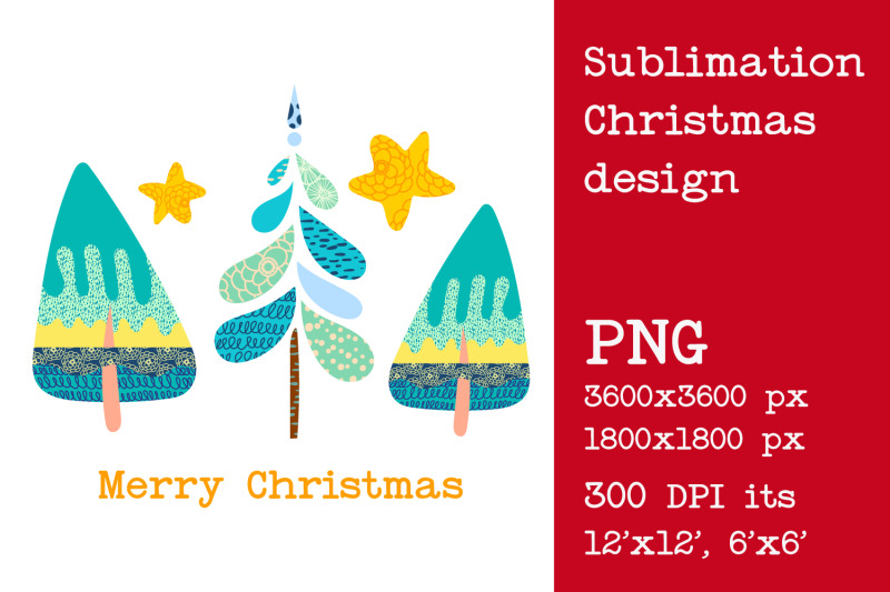 sublimation-christmas-tree-design