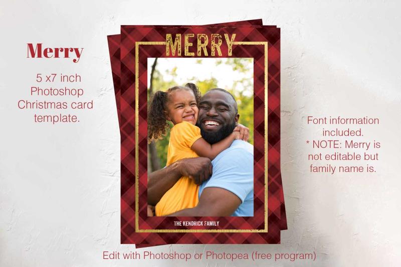 christmas-card-template-photoshop-card-template-holiday-plaid