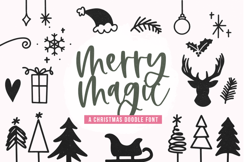 merry-magic-christmas-doodle-font