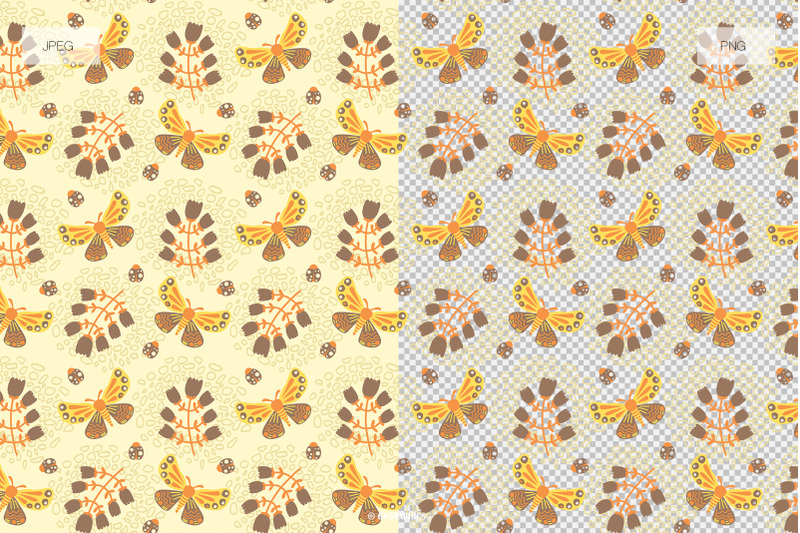 16-bright-flowers-and-birds-vector-patterns-and-seamless-tiles