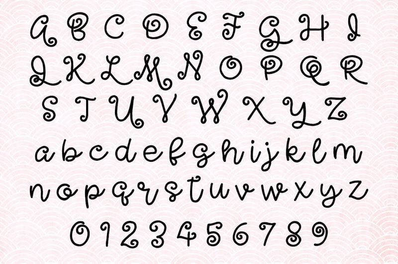 undulant-a-curly-girly-font