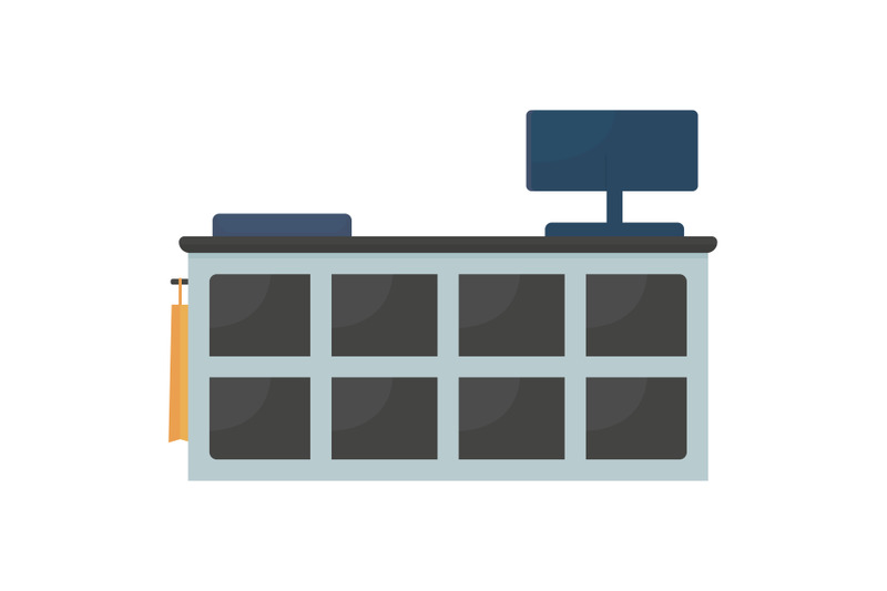 shop-counter-flat-color-vector-object