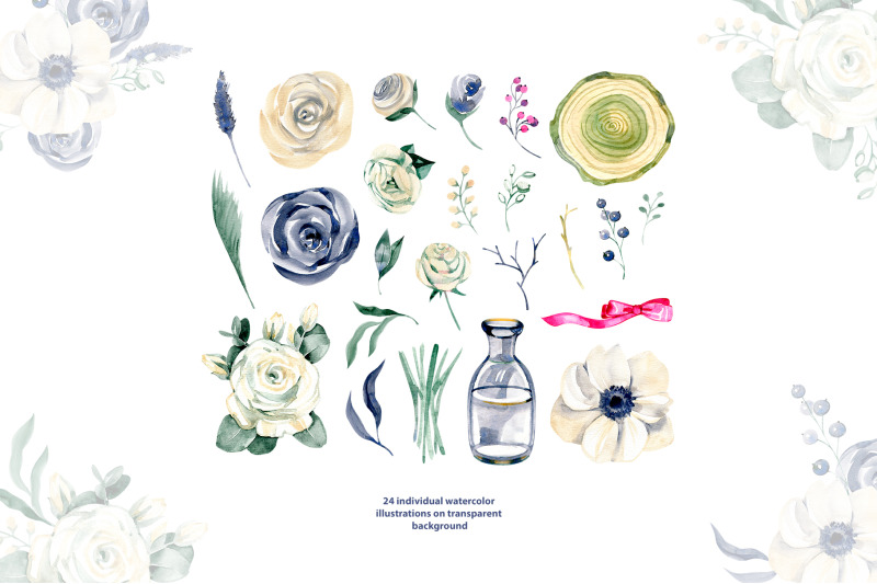 watercolor-white-flowers