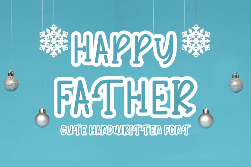 happy-father-cute-handwritten-font