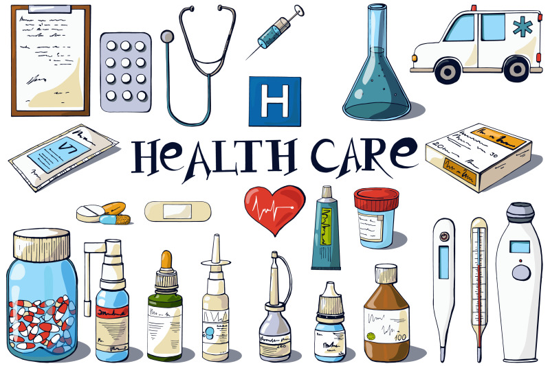 medical-clip-art-and-inscriptions