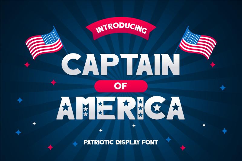 captain-of-america-patriotic-display-font