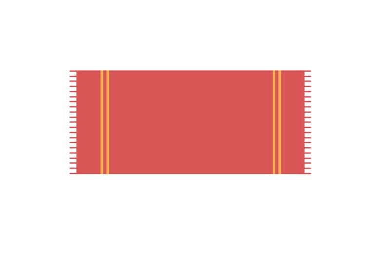 carpet-beach-vector-illustration