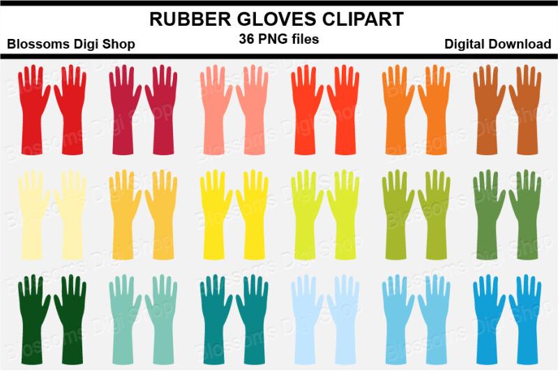 rubber-gloves-sticker-clipart-36-files-multi-colours