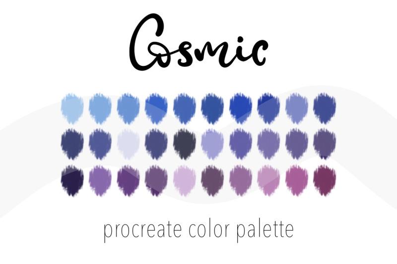 cosmic-color-palette-nbsp-for-procreate-30-nbsp-swatches-nbsp-for-digital-art