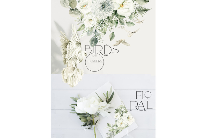 birds-and-flowers-watercolor-collection
