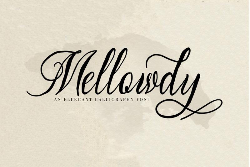 mellowdy-a-calligraphy-script