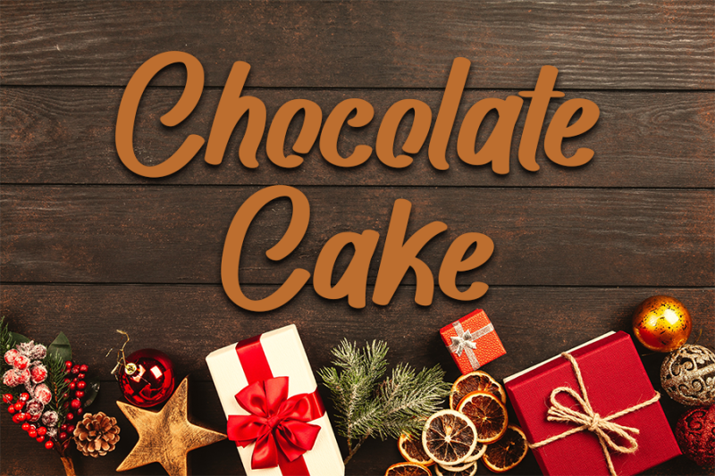 chocolate-cake-beautiful-script-font