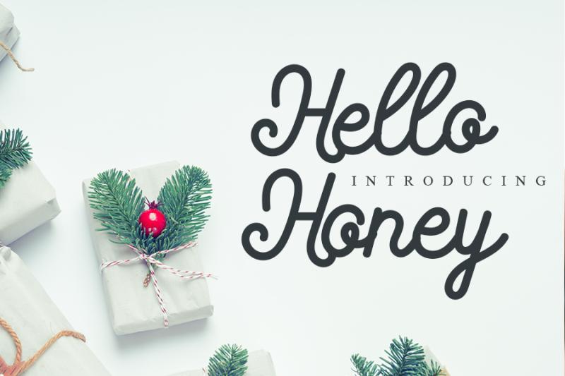 hello-honey-cute-script-font