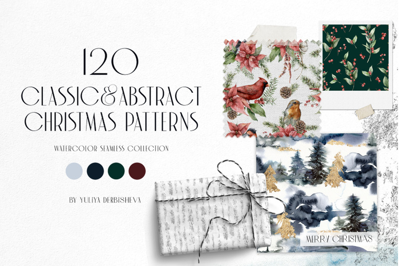 120-classic-and-abstract-watercolor-christmas-patterns
