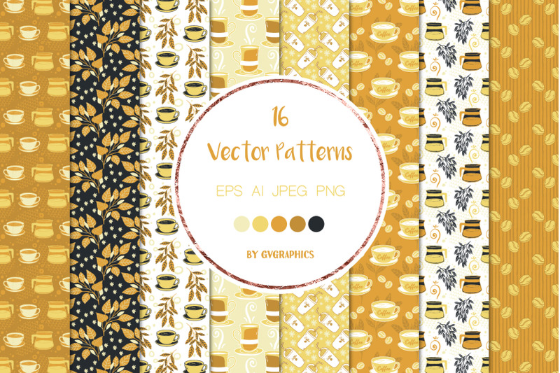 16-time-for-coffee-vector-patterns-and-seamless-tiles