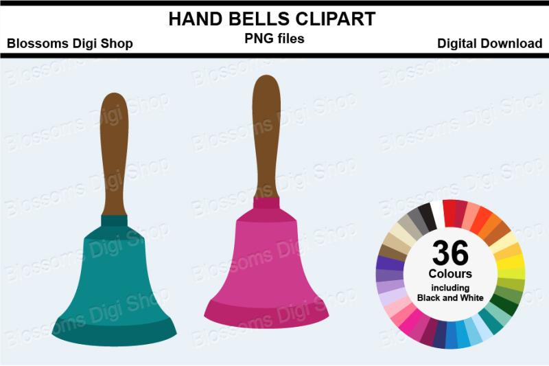 hand-bells-sticker-clipart-36-files-multi-colours
