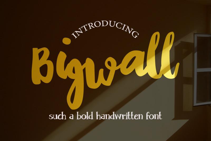 bigwall-a-bold-handwritten-script