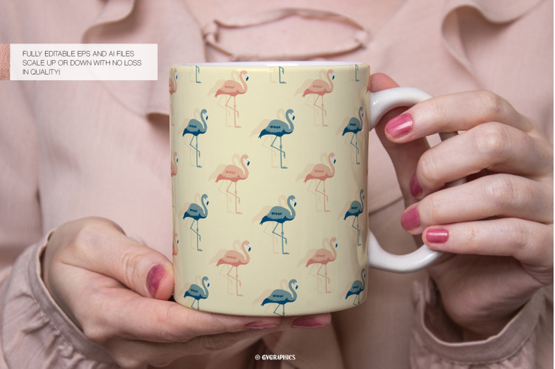16-flamingos-palm-leaves-and-flowers-vector-patterns