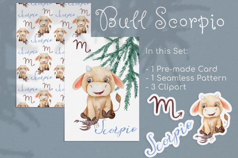 watercolor-scorpio-zodiac-bull-clipart