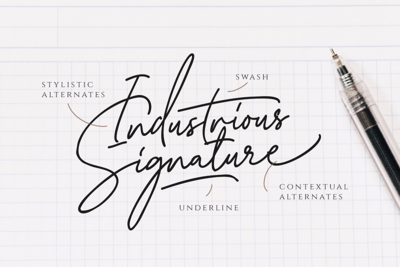 katherine-script-premade-logo