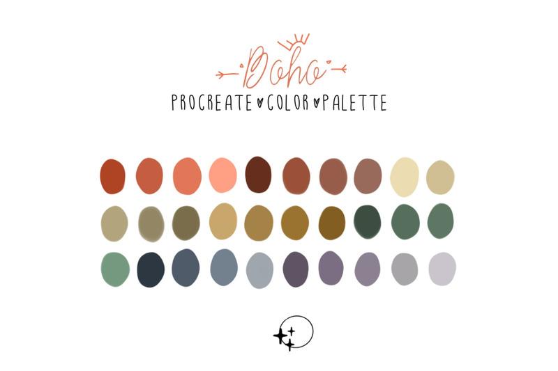procreate-palette-boho