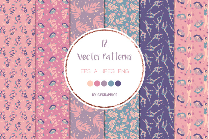 12-pretty-ballerinas-vector-patterns-and-seamless-tiles