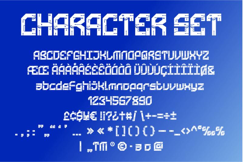 technoboard-circuit-board-font