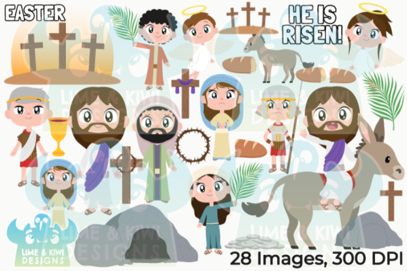 the-easter-story-clipart-lime-and-kiwi-designs