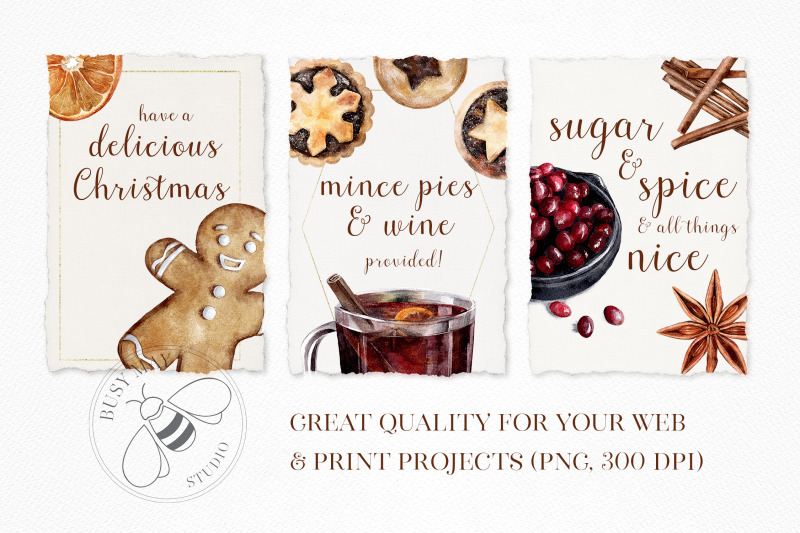 christmas-treats-watercolor-collection
