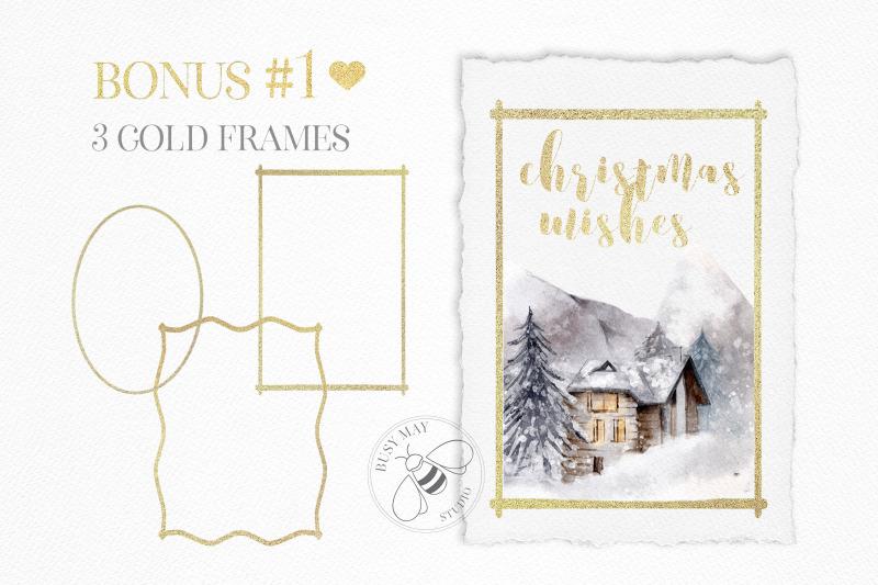 gold-snowflakes-stars-foil-metallic-festive-elements-logo