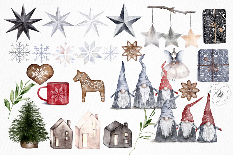 hygge-christmas-watercolor-illustrations-festive-clip-art