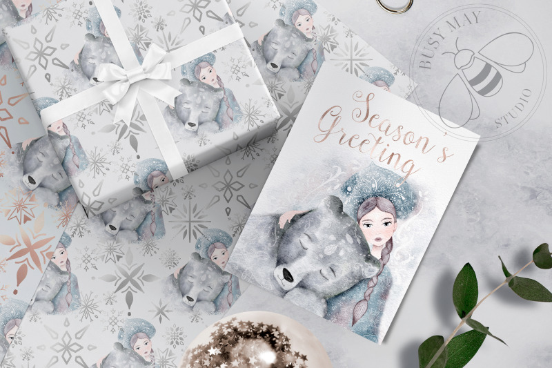 watercolor-winter-christmas-snow-queen-illustration-bear-png