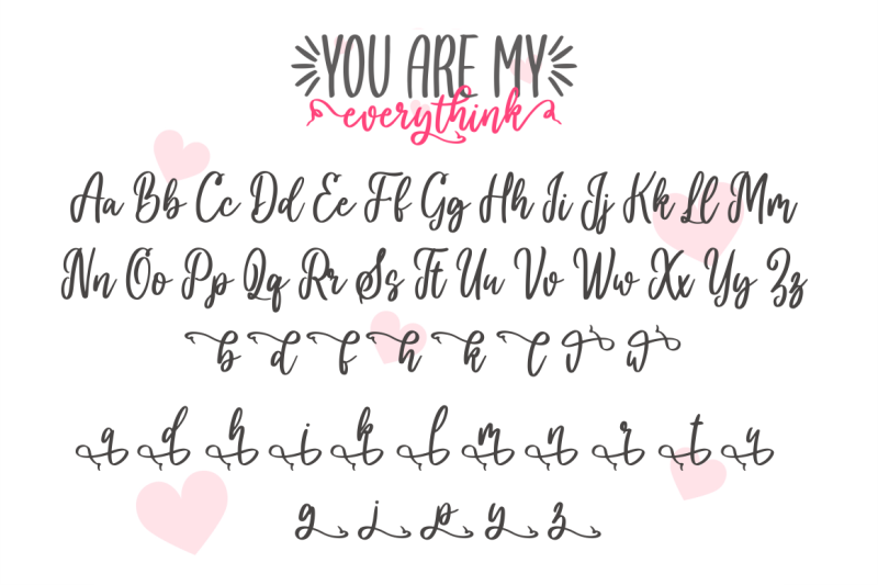 you-are-my-everythink-font-duo