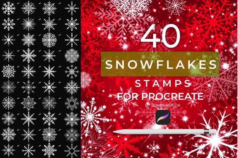 40-christmas-snowflakes-stamp-procreate
