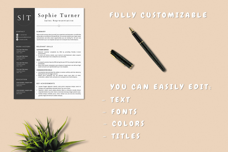 functional-resume-template-word-amp-pages