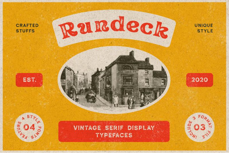 rundeck-vintage-texture-font