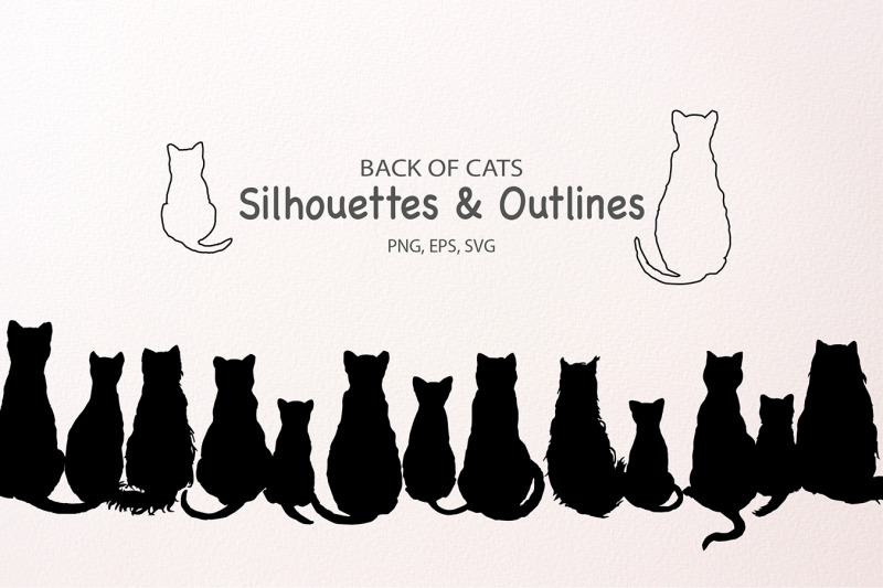 cat-silhouettes-and-outlines-svg-cut-file