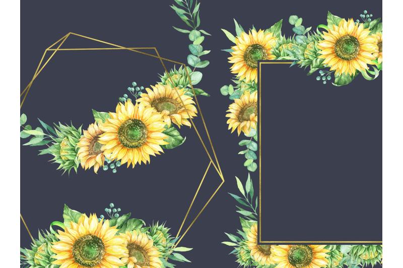 sunflowers-frames-clipart-sunflower-wreath-border-clip-art-autumn-wedd