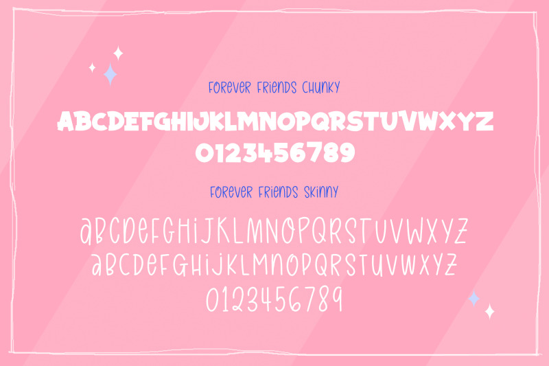 forever-friends-font-duo-craft-fonts