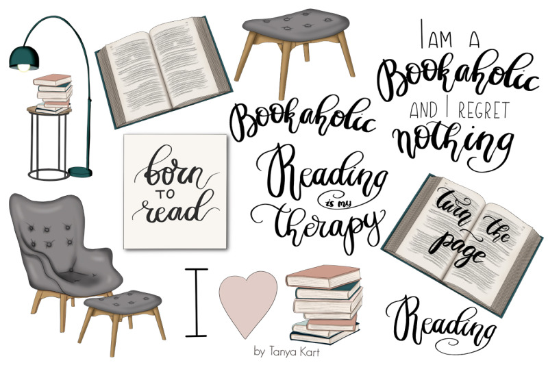 bookaholic-clipart-amp-patterns