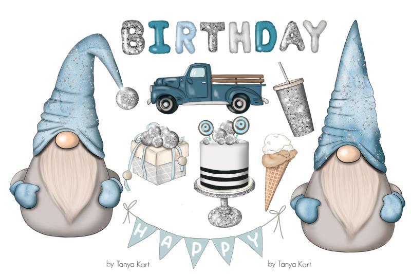 blue-birthday-nordic-gnomes-icons