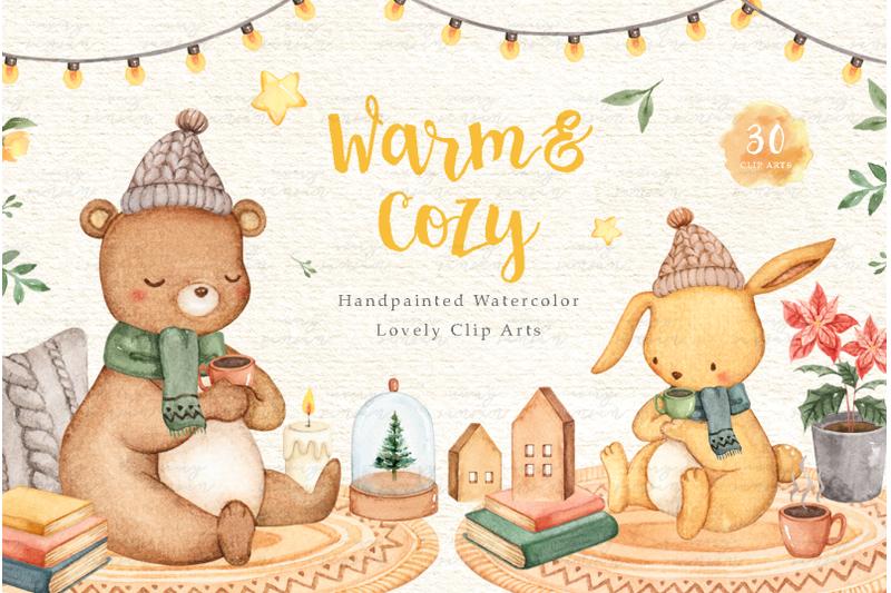 warm-amp-cozy-watercolor-clip-arts
