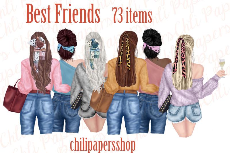 best-friends-clipart-fashion-girls-portret-creator-bff-mug