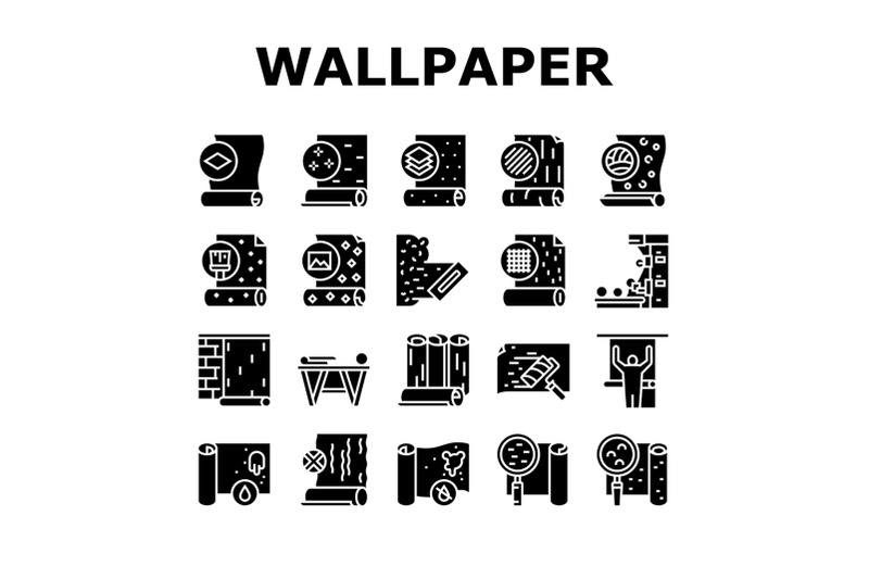 wallpaper-interior-collection-icons-set-vector