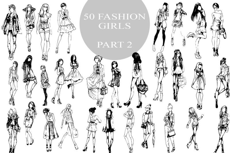 50-fashion-pretty-girls-vector