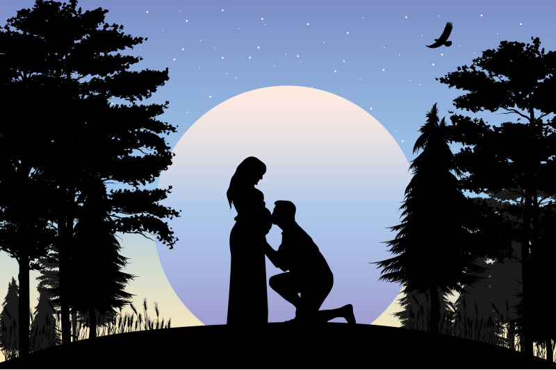 silhouette-of-couple-in-love-simple-vector-illustration